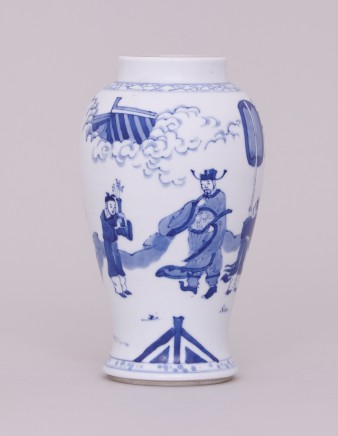 A CHINESE BLUE AND WHITE VASE , Kangxi (1662 - 1722)