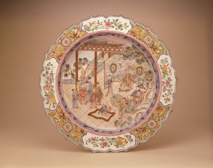 A RARE FAMILLE ROSE CANTON ENAMEL DEEP DISH, Qianlong (1736 - 1795)