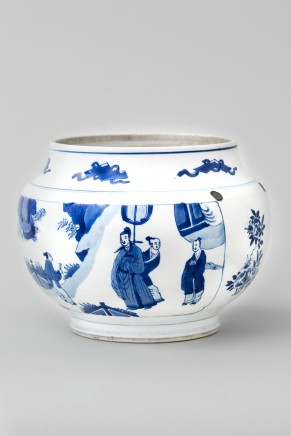 A BLUE AND WHITE JAR, Kangxi (1662 - 1722)