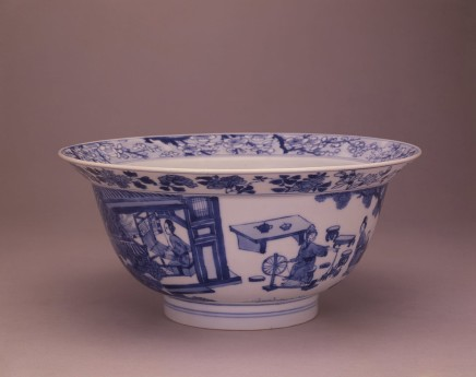 AN EXTREMELY RARE BLUE AND WHITE BOWL, Kangxi (1662 - 1722) mark and period