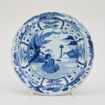 A JAPANESE BLUE AND WHITE ARITA DISH, Second half of the 17th century