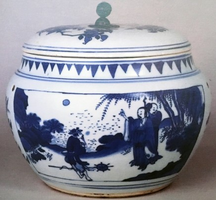 Blue and White Porcelains of the late Ming-Early Qing