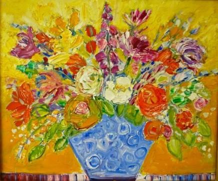 Penny Rees, Blue Spotty Vase