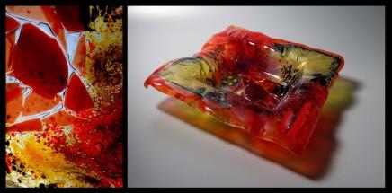 Teresa Chlapowski, Red Crystal Bowl