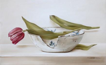 Tanja Moderscheim, 17th Century Haarlem Plate with Tulip