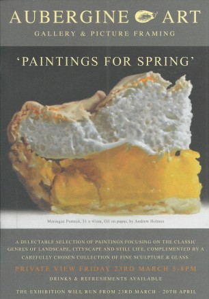 Paintings for Spring A selection of paintings focusing on the classic genres of landscape, cityscape and still life, complimented by a carefully chosen collection of fine sculpture and glass.