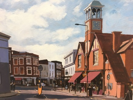 Wimbledon Village,original acrylic on canvas by Colin Cook