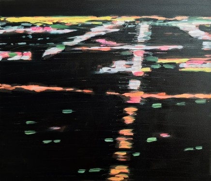 Pippa Blake Flightpath 7 Oil On Canvas 35 X 30 Inches