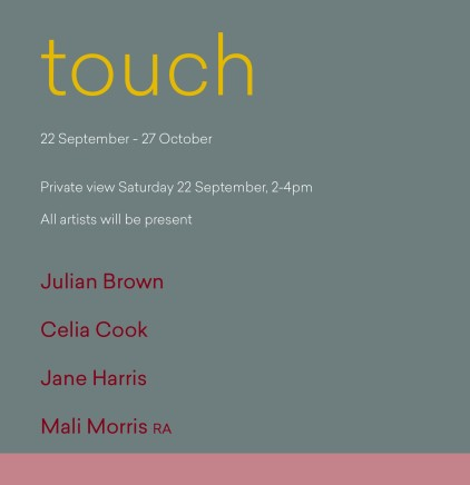 Touch Julian Brown, Celia Cook, Jane Harris and Mali Morris RA