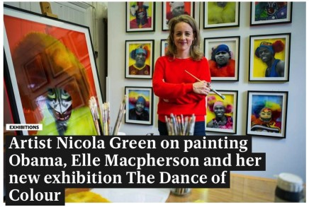 Artist Nicola Green on painting Obama, Elle MacPherson and her new exhibition The Dance of Colour