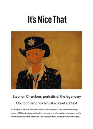 Stephen Chambers' Portraits of the Legendary Court of Redonda Hint at a Brexit Subtext