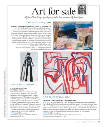 Art For Sale, featuring Alice Kettle