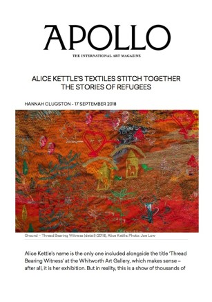 Alice Kettle's Textiles Stitch Together the Stories of Refugees