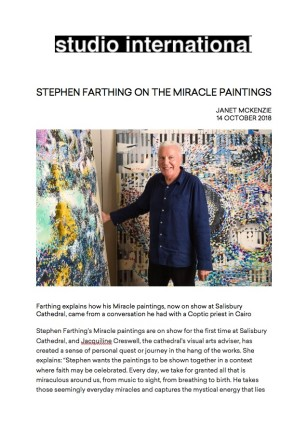 Stephen Farthing on The Miracle Paintings