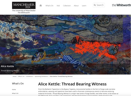 Alice Kettle: Thread Bearing Witness