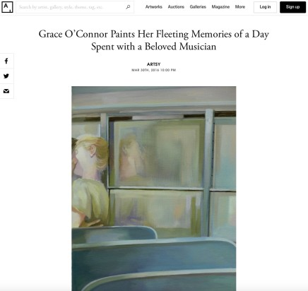 Grace O'Connor Paints Her Fleeting Memories of a Day Spent with a Beloved Musician