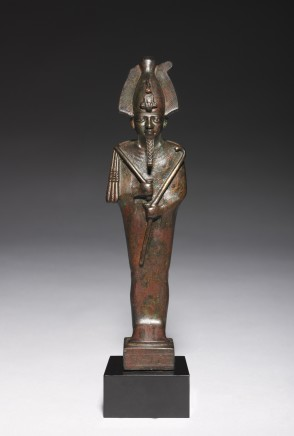 Egyptian statuette of Osiris Late Dynastic Period, 26th Dynasty, c.600 BC Bronze Height 18.5cm