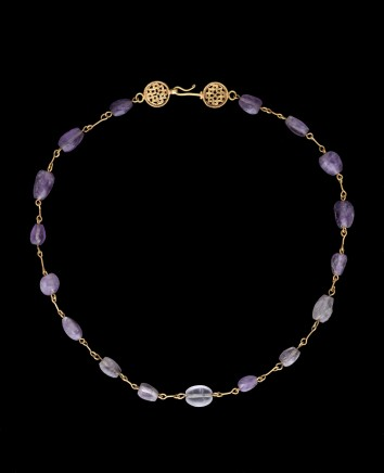 Byzantine amethyst and gold necklace, 6th century AD