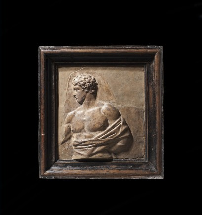 Roman relief fragment depicting Theseus , 1st century AD