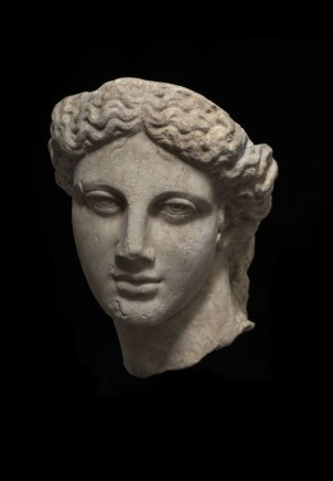 Roman marble head of Apollo, 2nd-3rd century AD