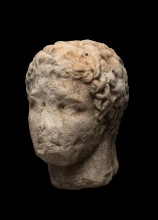 Greek marble head of Hermes, 4th century BC