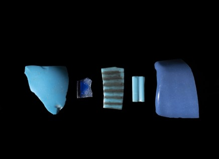 Five Egyptian glass fragments, New Kingdom, 18th Dynasty, c.1567-1320 BC