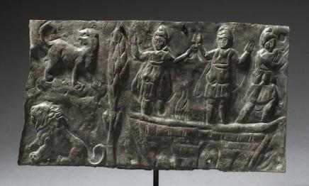 Byzantine bronze plaque with Shadrak, Mishak and Abednego, 4th-6th century AD