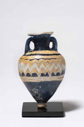 Greek coreformed glass amphoriskos, 6th-4th century BC