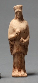 Greek terracotta statuette of Demeter, c.6th-5th century BC