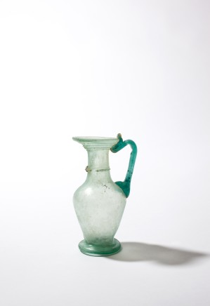 Roman glass juglet, 3rd-4th century