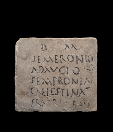 Roman marble epitaph, 2nd-3rd century AD