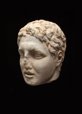 Hellenistic marble head of a man, probably one of the Diadochi, 2nd-1st century BC