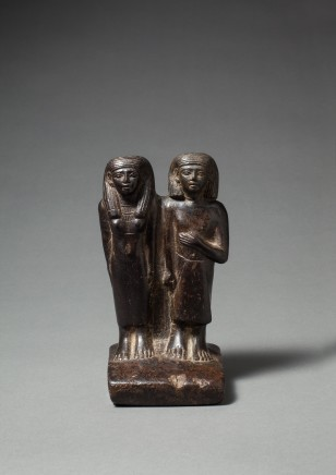 Egyptian pair statue, Middle Kingdom, late 12th Dynasty, c.1800 BC