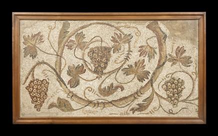 Large Roman mosaic panel 3rd century AD Tesserae Height 89cm, length 153cm