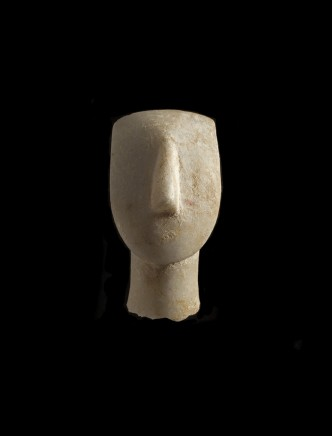 A Cycladic marble head