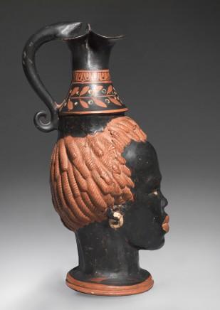 Greek black-glaze head vase Apulia, 4th century BC Terracotta Height 24.5 cm