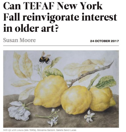 Susan Moore's Preview of TEFAF New York Fall 2017