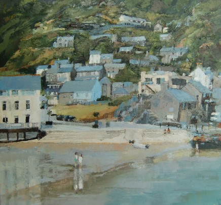 'Barmouth, Two Girls' Oil on board SOLD