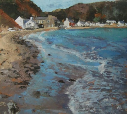 'Breeze off the Sea, Porthdinllaen' Oil on board SOLD
