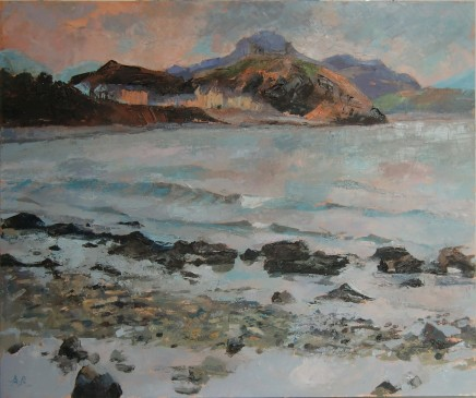'Criccieth from Ynysgain' Oil on board SOLD