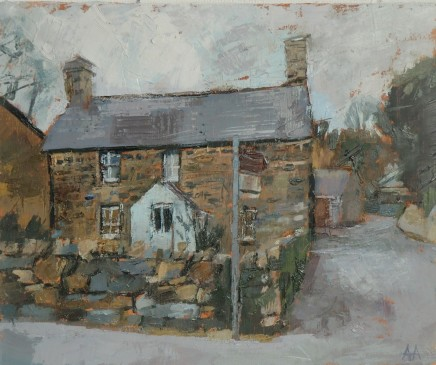'House at Llanystumdwy' Oil on board SOLD