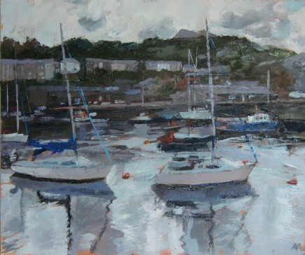 'Porthmadog After Rain' Oil on board SOLD