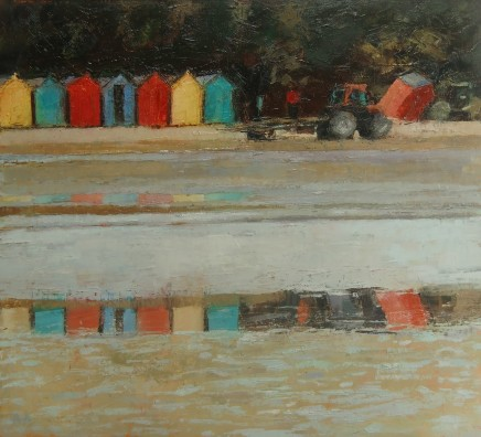 'Setting Up, Llanbedrog' Oil on board SOLD