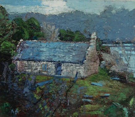 'St. Tysilio's Church' Oil on board SOLD