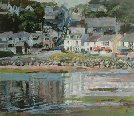 'Sun and Shade, Borth Y Gest' Oil on board SOLD