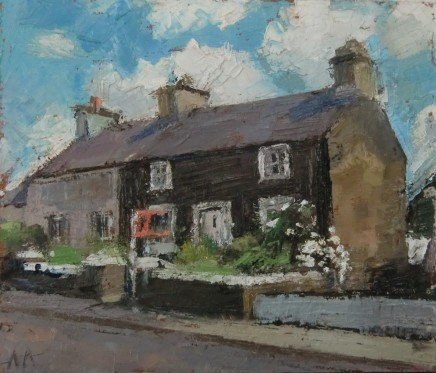 'To Let, Llanfachraeth' Oil on board SOLD