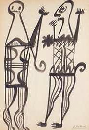 Benjamin Palencia, Dos Figuras, c1932