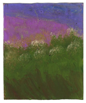 Frank Walter, Landscape Series: White Flowers and Purple Sky