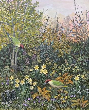 Barbara Winrow, Green Woodpeckers
