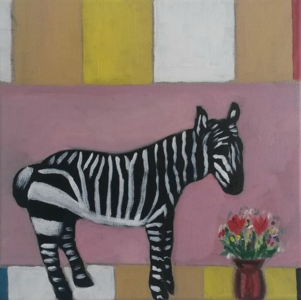Emrys Williams, Zebra with Flowers and Abstraction